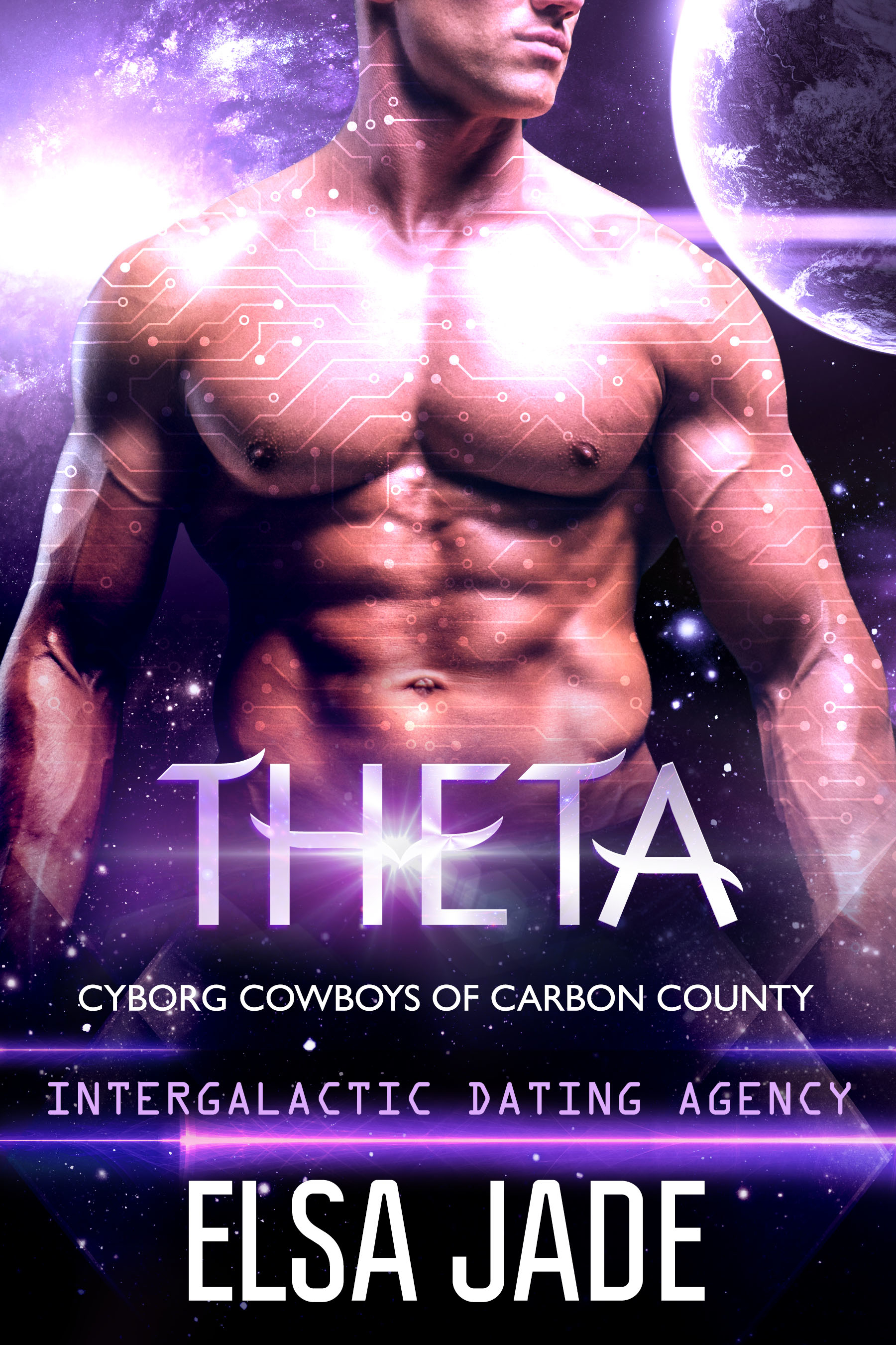 THETA: Cyborg Cowboys of Carbon County by Elsa Jade science fiction romance